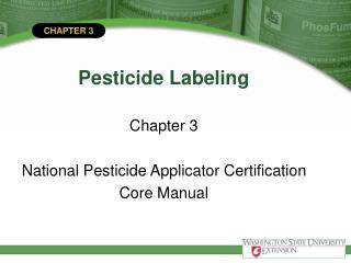 Pesticide Labeling
