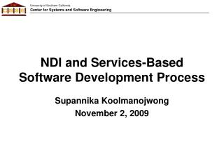 NDI and Services-Based  Software Development Process