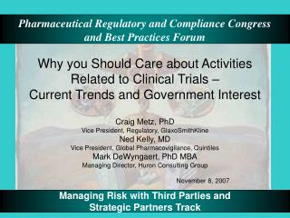 Why you Should Care about Activities Related to Clinical Trials    Current Trends and Government Interest