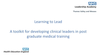 Leadership  Management Programme for Trainees