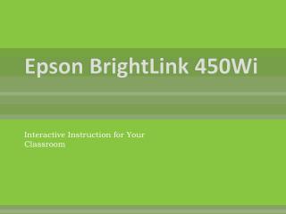 Epson BrightLink 450Wi