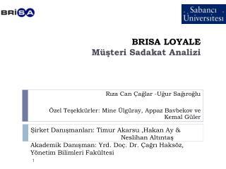 BRISA LOYALE M steri Sadakat Analizi