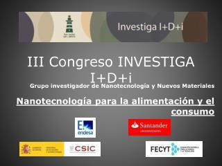 III Congreso INVESTIGA IDi