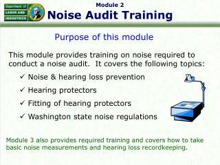 Module 2 Noise Audit Training
