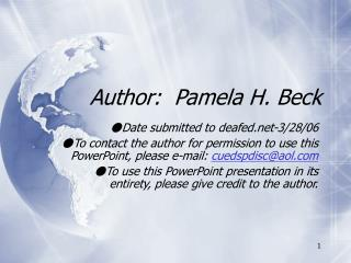 Author:  Pamela H. Beck