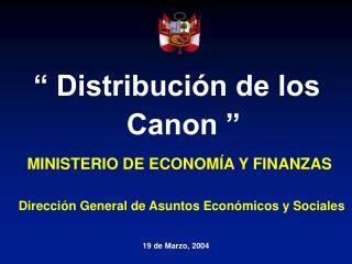 Distribuci n de los Canon