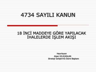 4734 SAYILI KANUN