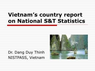 Vietnam s country report on National ST Statistics