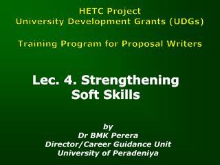 Lec. 4. Strengthening Soft Skills