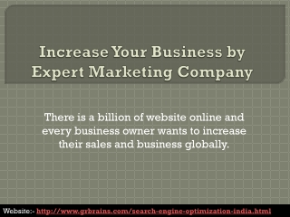 Increase Your Business by Expert Marketing Company