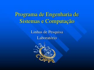 Programa de Engenharia de Sistemas e Computa  o