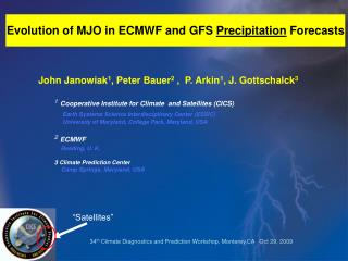 Evolution of MJO in ECMWF and GFS Precipitation Forecasts