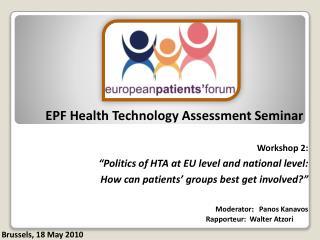 EPF Health Technology Assessment Seminar