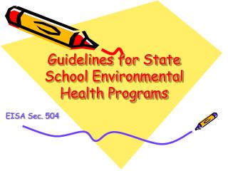 Guidelines for State School Environmental Health Programs