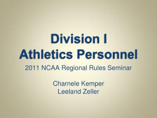 Division I  Athletics Personnel
