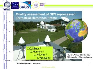 Quality assessment of GPS reprocessed  Terrestrial Reference Frame