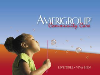 AMERIGROUP Community Care