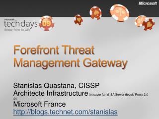 Forefront Threat Management Gateway