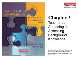 Chapter 3 Teacher as Archeologist: Assessing Background Knowledge