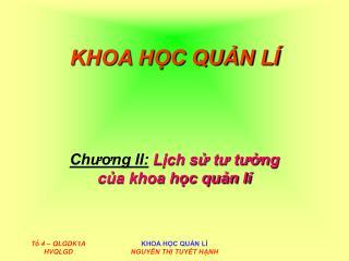 KHOA HC QUN L