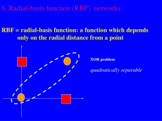 6. Radial-basis function RBF  networks   RBF  radial-basis function: a function which depends            only on the rad