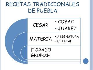 RECETAS TRADICIONALES DE PUEBLA