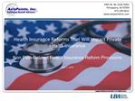 Health Insurance Reforms That Will Impact Private Health Insurance  Non Plan-Related Health Insurance Reform Provisions