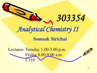 Analytical Chemistry II