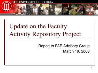 Update on the Faculty Activity Repository Project