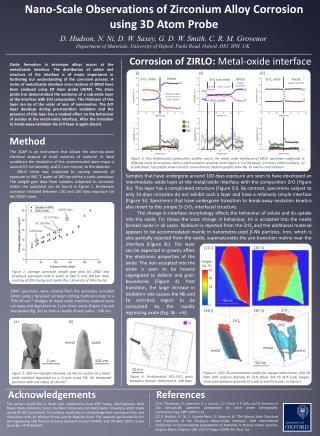 Nano-Scale Observations of Zirconium Alloy Corrosion using 3D Atom Probe