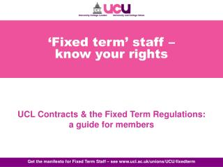 Fixed term  staff   know your rights