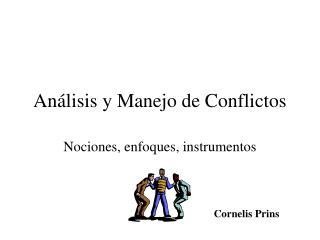 An lisis y Manejo de Conflictos