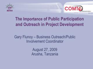 The Importance of Public Participation and Outreach in Project Development