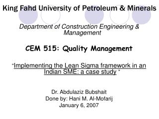 King Fahd University of Petroleum  Minerals
