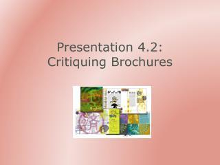 Presentation 4.2: Critiquing Brochures