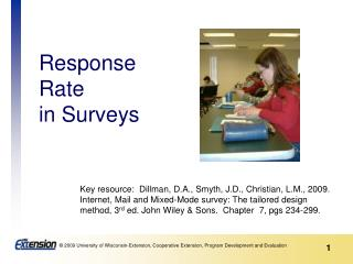 Response Rate  in Surveys
