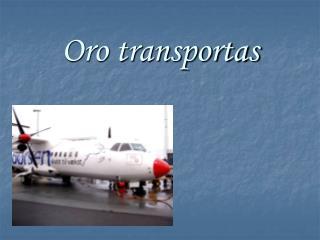 Oro transportas