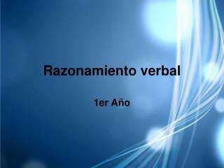 Razonamiento verbal