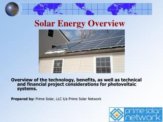 Solar Energy Overview