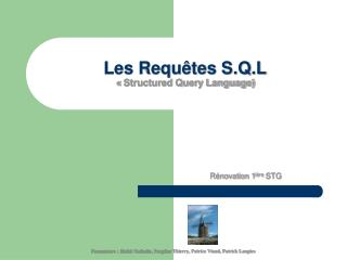 Les Requ tes S.Q.L   Structured Query Language