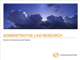ADMINISTRATIVE LAW RESEARCH