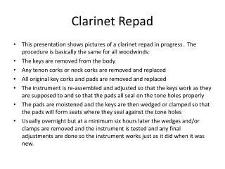 Clarinet Repad