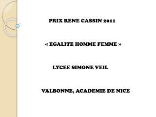 PRIX RENE CASSIN 2011