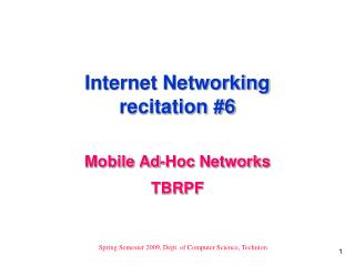 Internet Networking recitation 6