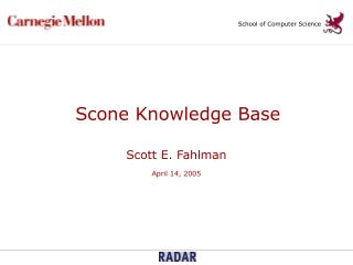 Scone Knowledge Base