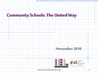 Community Schools: The United Way