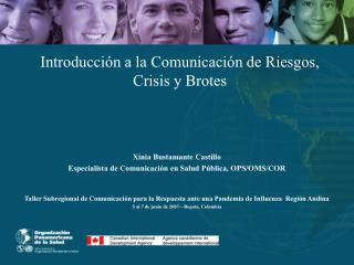 Introducci n a la Comunicaci n de Riesgos, Crisis y Brotes