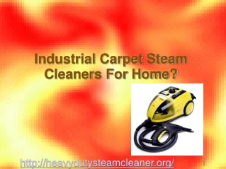 Benefits Of Commercial Rug Steam Cleaners