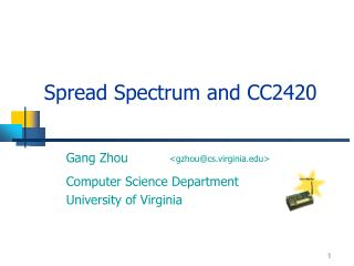 Spread Spectrum and CC2420