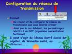 Configuration du r seau de transmission